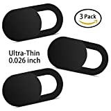 #3: Yilador T1 Laptop Camera Cover (3 Pack), Ultra Slim 0.026 inch Premium Slide Webcam Cover Blocker for Computer, Mac, iMac, MacBook Pro, iPhone, Smartphones, Surface, Security Privacy Sliding Cover