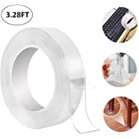 RC Enterprises Reusable and Washable Double Sided Adhesive silicon Tape with Multi-Functional Anti-Slip Double Sided Sticky Strips, Gel Tape Roll Wall Stickers