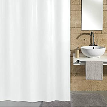 Amazon.com: VDOMUS Mildew-Free Waterproof Fabric Bathroom Shower ...