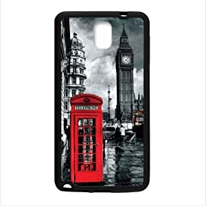Customized Classic British London Red Telephone Box And Big Ben Samsung Galaxy Note 3 III TPU (Laser Technology) Case, Cell Phone Cover
