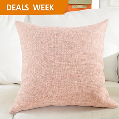 Home Brilliant Decorative Lined Linen Euro Pillow Cover Cushion Case for Floor, 24