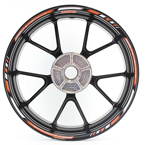SpecialGP color-matched adhesive rim-striping wheel rim pin stripe pinstriping tape sticker decals for KTM SuperDuke 990 17-inch wheels