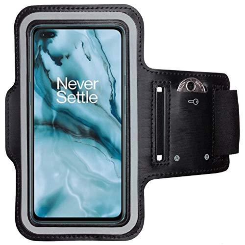 CoverKingz Sportarmband voor OnePlus Nord – armtas met sleutelvak OnePlus Nord – sport looparmband mobiele telefoon…