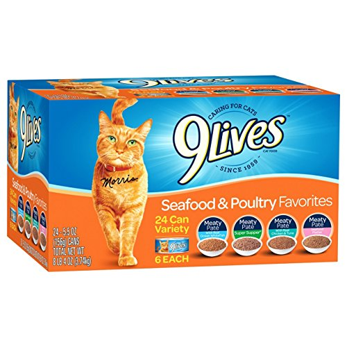 9Lives Seafood and Poultry Variety Pack 24-Count