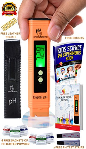 BLOWOUT Step - Digital pH Meter Kit | High Accuracy pH Tester Range 0-14 | Hydroponics, Aquarium, Swimming Pool, Water Quality Proof with ATC | 6 Sachets of pH Buffer Solution Powder | Extra Battery