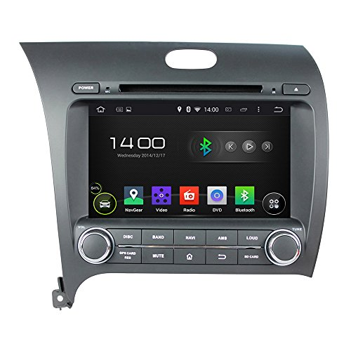TamYu 8 Inch Android 4.4.4 Car DVD GPS Navigation for KIA CERATO/K3/FORTE 2013 with GPS+IPOD+BT+Radio+AUX IN+DVR +Bluetooth+WIFI +Free Backup Camera + USA Map