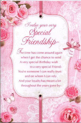 Friend birthday card i value your very special friendship friend birthday card i value your very special friendship traditional flowers roses design lovely verse amazon garden outdoors bookmarktalkfo Gallery
