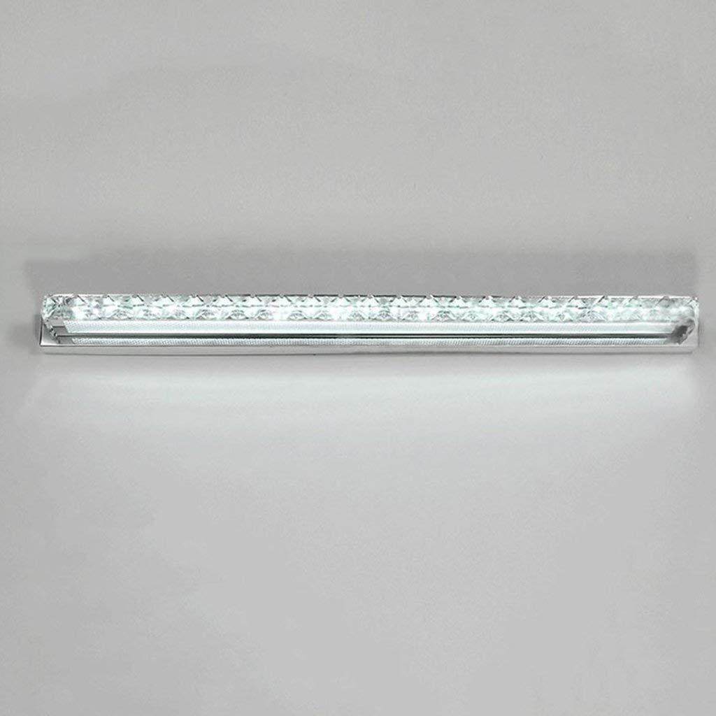 Mirror Lamps Home Die Lampen Kristallspiegel spiegelt Spuren Frontinstrumente LED-Leuchten Spiegel Bad WC versiegelt Edelstahl Wandleuchte Bad Zimmer Lichter. (Farbe   Weiß-6w40cm)