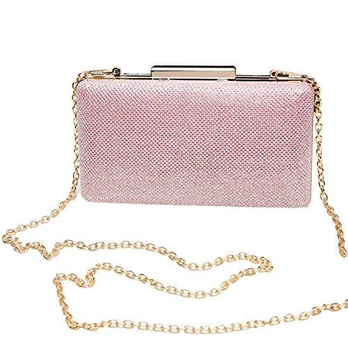 Pink Handbag Clutches UNYU Purse Party Wallet Wedding Women for Bag Clutch Evening Designer USB6Uq