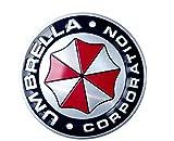 2pcs/lot Car Styling Resident Evil Umbrella Car Sticker Decals Brushed Aluminum 3D Emblem