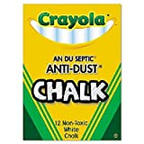 Crayola : Nontoxic Anti-Dust Chalk, White, 12 Sticks per Box -:- Sold as 2 Packs of - 12 - / - Total of 24 Each