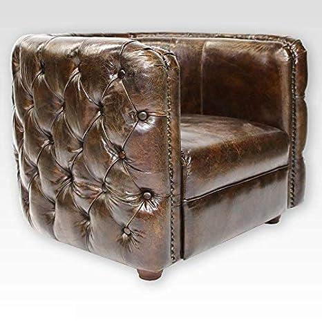 Phoenixarts 462 - Sillón Club Chesterfield Vintage Piel ...