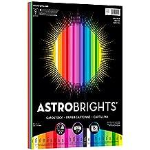 "Astrobrights Colored Cardstock, 8.5"" x 11"", 65 lb/176 gsm, ""Spectrum"" 25-Color Assortment, 75 Sheets (80944-01)"