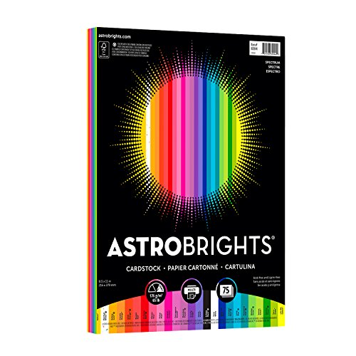 "Astrobrights Colored Cardstock, 8.5"" x 11"", 65 lb/176 gsm,"