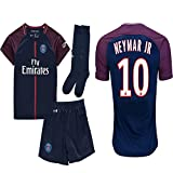 Kid / Youth Paris Saint-Germain PSG FC 2017 2018 17 18 Replica Home & Away Jersey of Neymar Jr, Cavani & Di Maria (Neymar Jr Home, Size 18 (2-3 Years Old))
