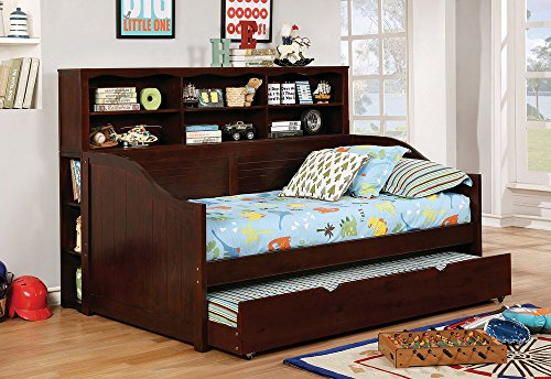 Omnus Dark Walnut Wood Daybed by Furniture of America (Wood Daybed Traditional)
