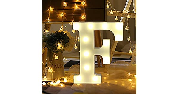 Amazon.com: TADAMI - Luces LED estilo vintage, 26 letreros ...