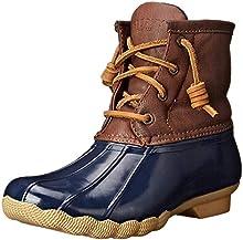 Sperry Saltwater Rain Boot (Little Kid/Big Kid), Navy, 5 M US Big Kid