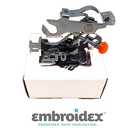 Embroidex Ruffler máquina de coser pie para bajo vástago: Amazon.es: Juguetes y juegos
