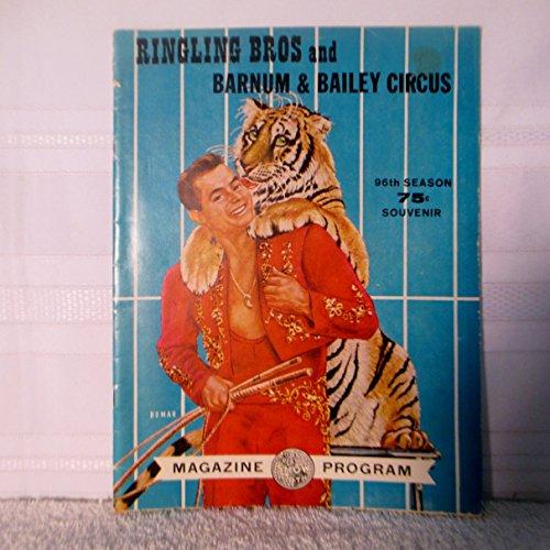 1966 Ringling Bros.and Barnum & Bailey Circus 96th Season Souvenir Magazine program Barnum & Bailey Circus Magazine