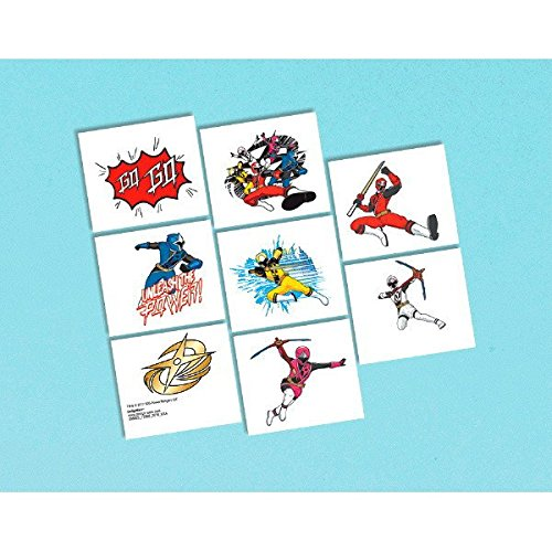 Amscan Power Rangers Ninja Steel Tattoos (8ct)