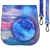 Protective Case for Fujifilm Instax Mini 9 8 8+ Instant Film Camera with Accessory Pocket and Adjustable Strap-Deep Starry Sky by SAIKA