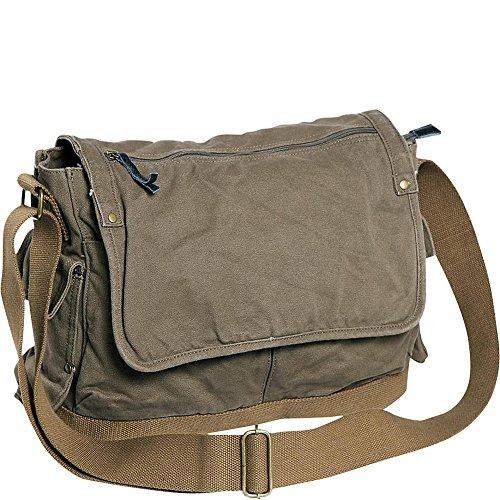 Vagabond Traveler Casual Style Canvas Messenger Bag (Military Green) by Vagabond Traveler