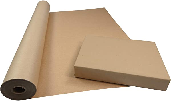 500mm x 50M STRONG BROWN KRAFT WRAPPING PAPER 50 METRES RECYCLED PAPER