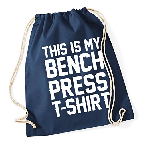 Bag Drawstring French Cotton Sack School t my Kid press 46cm litres bench x HippoWarehouse This 12 Navy Gym 37cm shirt is xqOH7z0