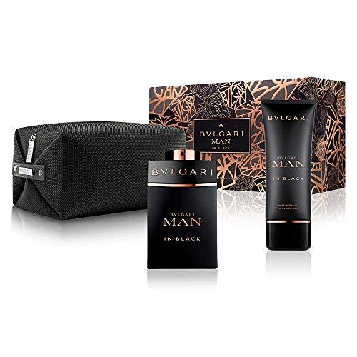 Conjunto Man in Black Bvlgari Masculino - Eau de Parfum 100ml + Pós-Barba 100ml + Nécessaire