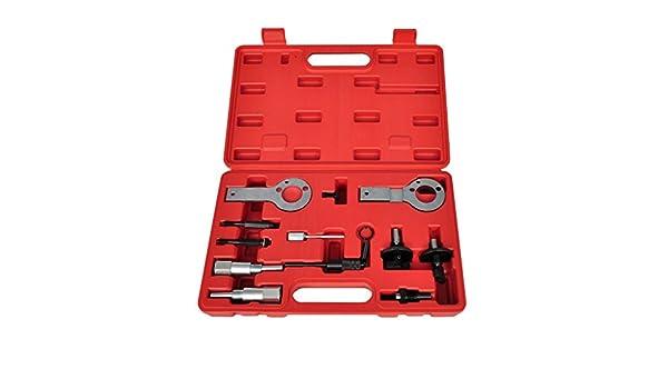 Vislone Conjunto Completo de Herramientas de Distribucuón del Motor con 12 Piezas Rojo: Amazon.es: Hogar