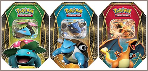 Pokemon EX Power Trio Tin Set of All 3 Pokemon Tins - Charizard EX Tin, Venusaur EX Tin & Blastoise EX Tin