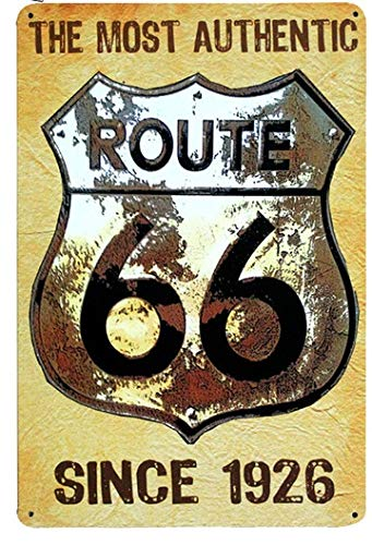 Newcave ROUTE66 Route 66 Placa de Metal Vintage para ...