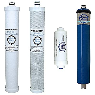 Culligan AC-30 Compatible Filters, KleenWater Replacement Cartridge and Membrane, Set of 4