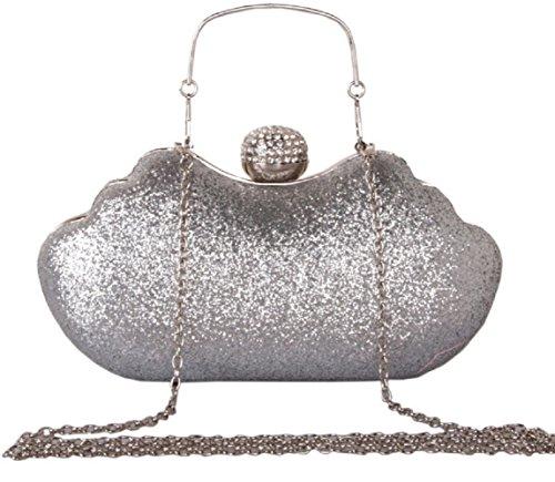 Party Purse Bettyhome Evening Handle Clutches Silver Handbags Lady Bag Shiny Rhinestone Wedding Women OrOgqF