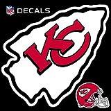 Stockdale Technologies Kansas City Chiefs 12'' Logo Decal with Bonus Decal Reusable Auto Home Football
