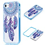AIIYG DS(TM) 4.7″ iPhone 7 Case, IP7 Case Soft TPU with PC Bumper Shockproof Pattern Case for Apple iPhone 7 (Blue Dream Catcher)