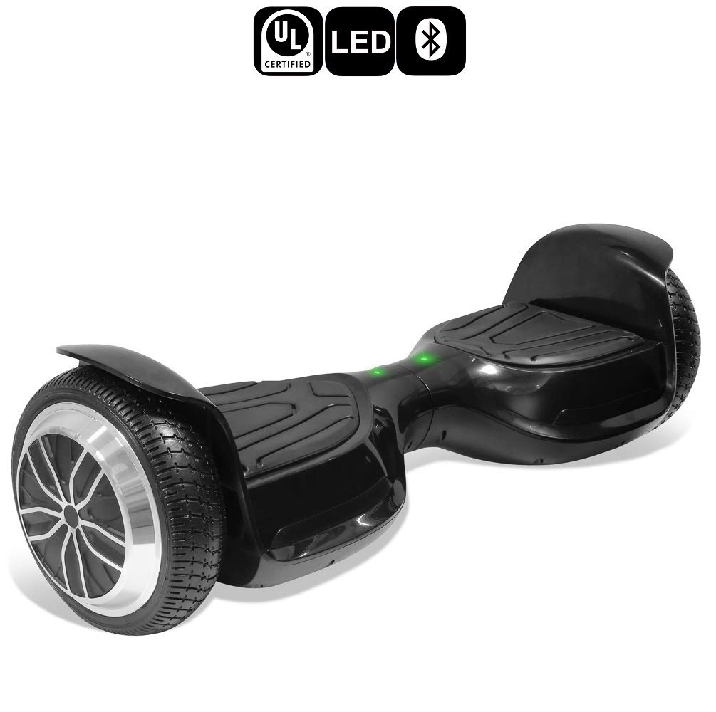 TPS 6.5'' Classic Bluetooth Hoverboard Self Balancing Scooter Colorful LED Wheels & Lights UL2272 Certified (Black)