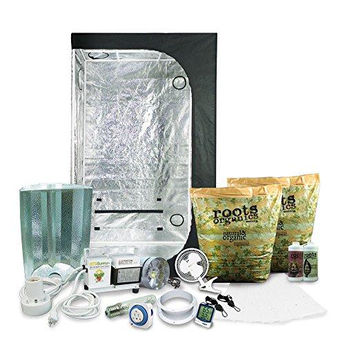 "51nVzIUtd6L - Complete 2 x 3 (36""x22""x63"") Grow Tent Package With 250-Watt HPS Grow Light + Organic Soil & Nutrients"