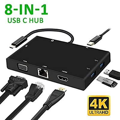 Weton USB C Hub, PD Quick Charge(Max 3A) USB-C Adapter, Type-C to HDMI Converter Ideal for MacBook, ChromeBook