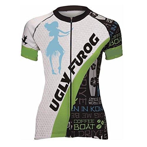 Uglyfrog Womens Cycling Jersey Half Sleeve Top Cycle Racing Team Quality Biking Top
