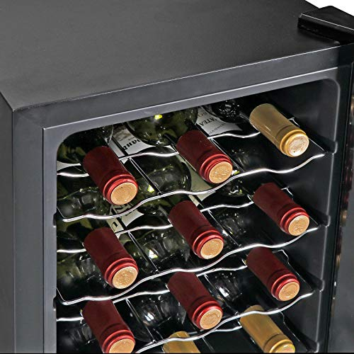 AK Energy 18 Bottles Wine Cooler Refrigerator Air-tight Seal Quiet 50-64 F Temperature Control by AK Energy (Image #8)