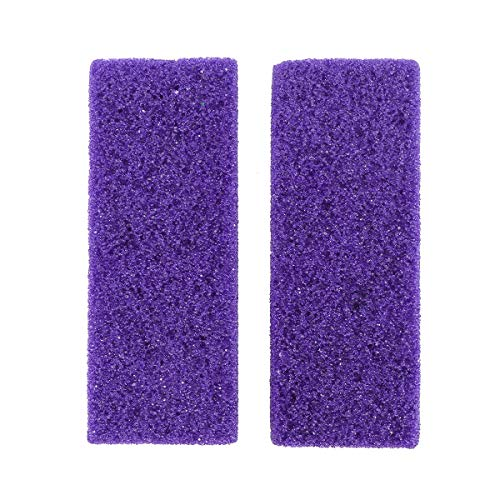 (Healifty Foot Exfoliator Pedicure Tool Foot Callus Remover Scrubber 2pcs(Purple))