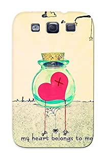 Special Yellowleaf Skin Case Cover For Galaxy S3, Popular My Heart Belongs To Me Phone Case For New Year's Day's Gift