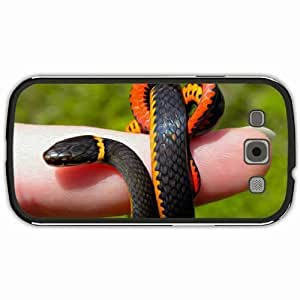 New Style Customized Back Cover Case For Samsung Galaxy S3 Hardshell Case, Black Back Cover Design GARDEN SNAKE Personalized Unique Case For Samsung S3
