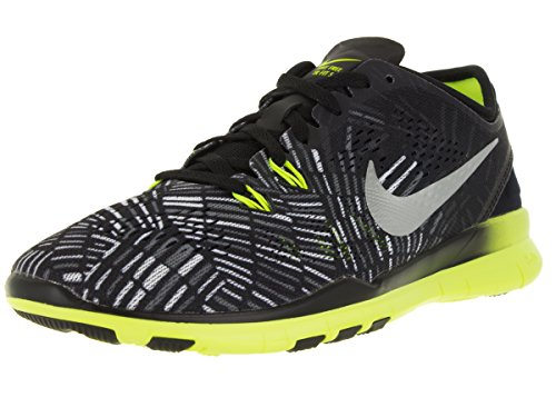Nike Nike Nike Wmns Metallic Prt black Nke Basses 0 Noir Negro Silver Femme 5 Tr Fit volt 5 Free Baskets SSdq1r