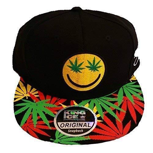 de unisex Ice con visera Smile de diseño plana con Gorra marihuana Weed de King plantas AXYvwSvH7