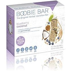 Boobie Bar, The Original Lactation Bar, Blueberry Coconut, 6 Bars