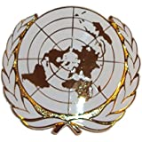 Issue ORs United Nations Cap Badge - UN Beret Badge by Unknown