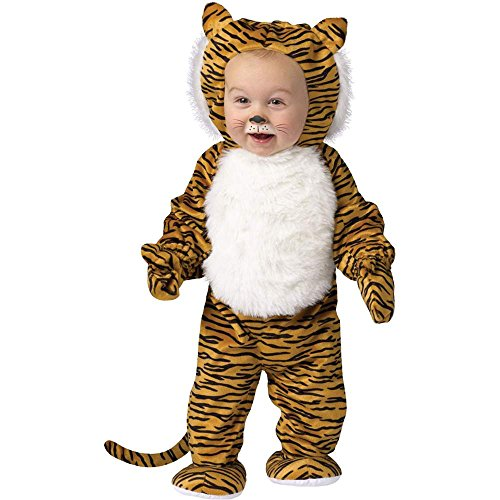 Cuddly Tiger Baby Costume - 6-12 Months - Toddler Tiger Costume Cuddly
